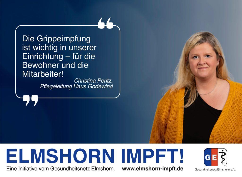 Elmshorn impft Testimonial - Christina Peritz